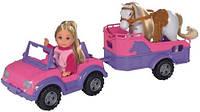 Кукла Evi c джипом с трейлером и конем  5737460, фото 1