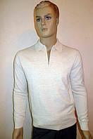 Бежевый свитер на молнии Gianni Marcelo, фото 1