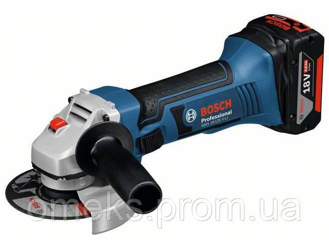 Угловая шлифмашина Bosch GWS 18-125 V-Li ALC