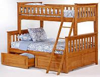 Акция! Кровать Жасмин двухъярусная с ящиками 140/90/190 см + Матрасы зима/лето