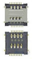 (Коннектор) Aksline Разъем SIM-карты Lenovo A520 / A580 / A690 / A780 / A800 / S720