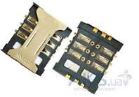 (Коннектор) Aksline Разъем SIM-карты Lenovo S890 / A398+ / A628+