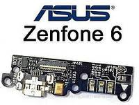 Шлейф Asus ZenFone 6 (A600CG) нижняя плата с разъемом зарядки и микрофоном Original