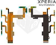 Шлейф для Sony Xperia C3 Dual D2502, кнопки включения, боковых клавиш, микрофона, с компонентам (оригинальный)