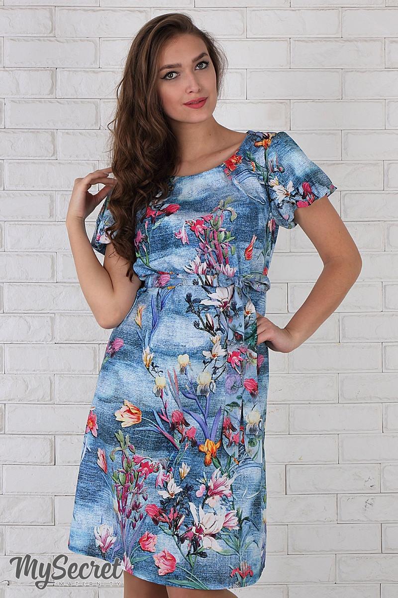 Голубое платье для беременных фото зима
