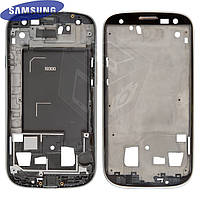 Рамка крепления дисплея для Samsung I9300 Galaxy S3, серебристая, оригинал