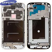 Рамка крепления дисплея для Samsung Galaxy S4 i9500, оригинал, серебристая