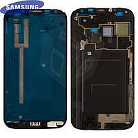 Рамка крепления дисплея для Samsung N7100 Note 2, оригинал (серая)