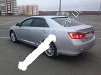 Дефлекторы окон (ветровики) на Тойота Камри-50 с 2011> (клеющие) Cobra Tuning.