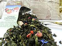 Зеленый чай клубника со сливками