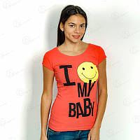 Футболка женская 17F-026red купить женские футболки оптом