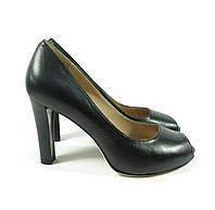 Туфли кожа черного цвета
