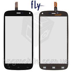 Сенсорный экран для Fly IQ4410 Quad Phoenix, черный, оригинал