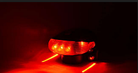 Велосипедный стоп фонарь с лазером