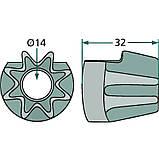 Шестерня пальца вязального аппарата пресс-подборщика Welger, d14мм, z8 (8 зубов), фото 2