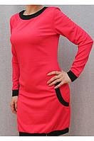 Платье с карманами коралл, фото 1