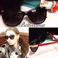 Женские солнцезащитные очки с красной оправой e-431698