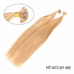 """Высококачественные волосы Remy на капсулах \u2014 U-tip, стиль: """"Гладкий шелк"""""""