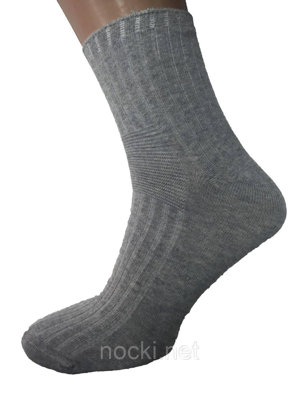 Шкарпетки чоловічі без шва Dursun світло-сірі