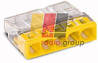 Клема COMPACT для розпод коробок 5х2,5, прозора/жовта,без пасти