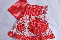 Комплект,  платье + трусики + косынка, Украина/ купить детский комплект дешево оптом со склада 7км