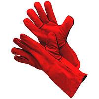 Перчатки  сварщика спилковые с крагами