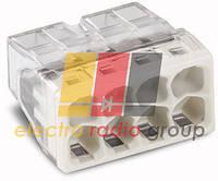 Клема COMPACT для розпод коробок 8х2,5, прозора/сіра,без пасти