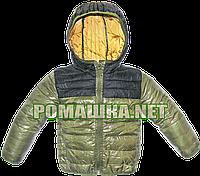 Детская куртка ветровка р. 104 с капюшоном на холодное лето, теплую осень, весну, ТМ Lefties 3034 Зеленый