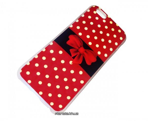 Силикон Fashion for iPhone 6 Bow-knot