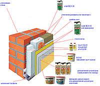 Система утепления фасадов Anserglob (минераловатные плиты)