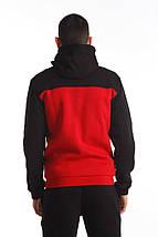 Кофта олимпийка Ястреб (красно-черная), фото 3
