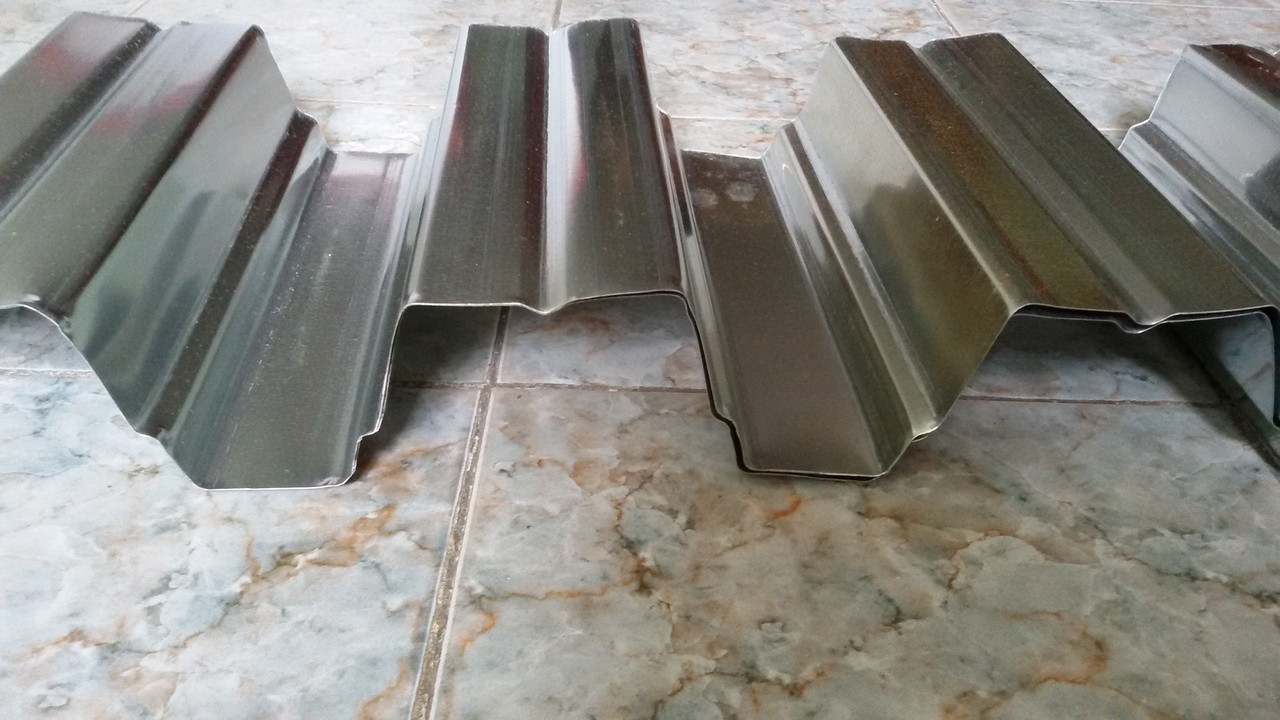 Профнастил покрівельний ПК - 75, цинк, товщина металу 0.65 мм, 0.70 мм, 0.80 мм, 0.90 мм, Україна