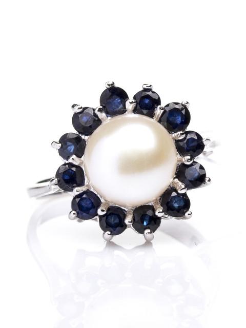 Жемчуг с натуральными камнями в серебре/Перли з натуральними каменями в сріблі
