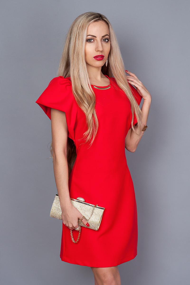 Платье мод. 239-3,размер 48 красное