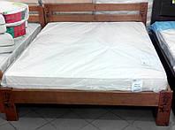 Кровать полуторная деревянная Марсель 140х200 см с резьбой. Иероглифы