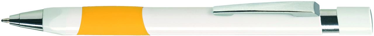 Ручка пластиковая VIVA PENS Eve White бело-желтая