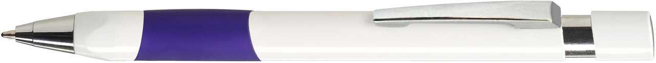 Ручка пластиковая VIVA PENS Eve White бело-фиолетовая