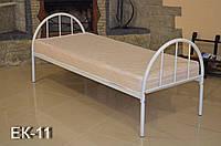 Кровать металлическая односпальная облагороженная ЛДСП