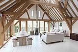 Дизайн помещения с декоративными балками на потолке, фото 2