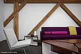 Дизайн помещения с декоративными балками на потолке, фото 4
