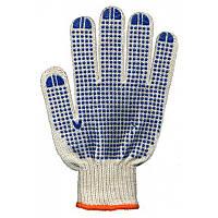 Перчатки рабочие трикотажные с ПВХ покрытием 4 нити