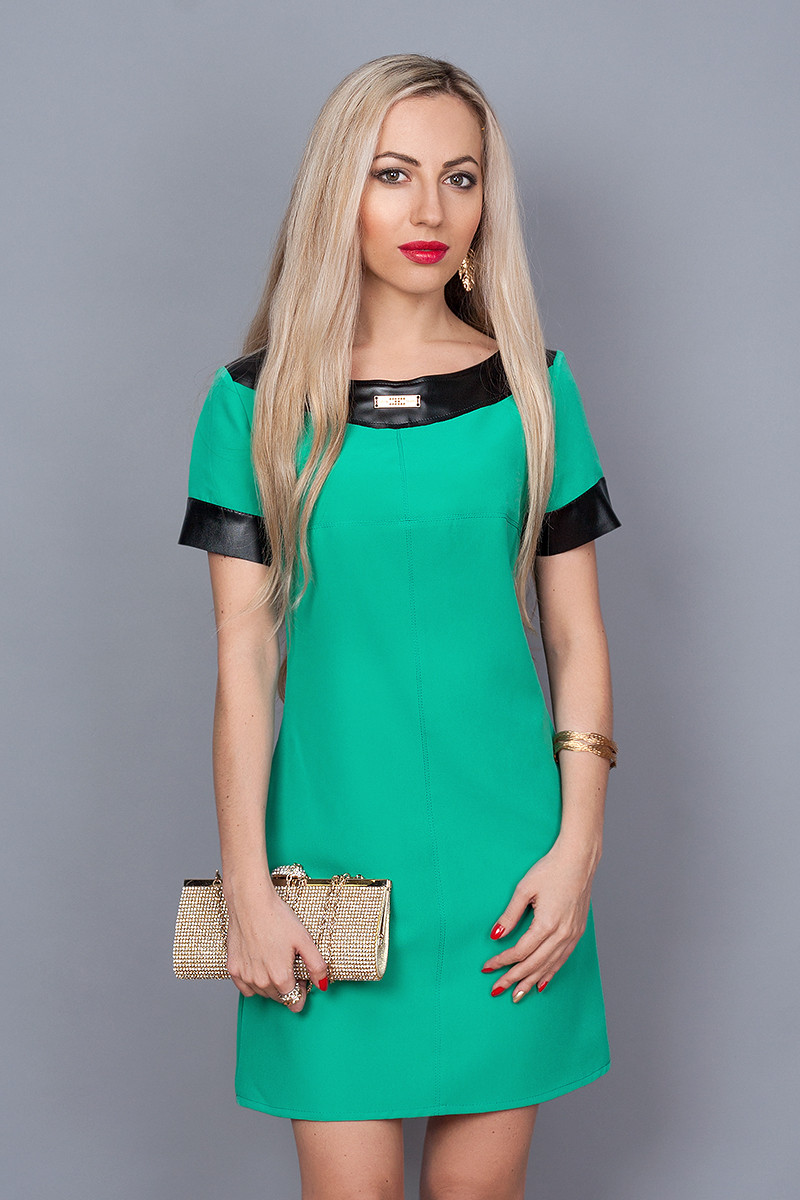 Платье мод. 240-1,размер 40,46 бирюза
