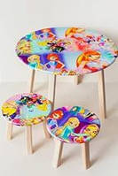 Столик круглый и два стула детский Винкс для девочки 884012