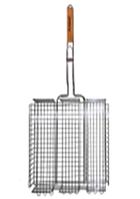 Решетка для гриля глубокая 40*30*7см с деревянной ручкой СКАУТ 0706*