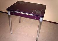 Стол обеденный стеклянный раскладной В 179-35
