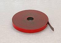 Скотч двосторонній для дзеркал, червоний / Скотч двухсторонний самоклеящийся для зеркал, красный, лента 20 м