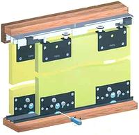 Направляючі для меблів SKM 80, L 1.5 м / Направляющие СКМ 80, верхнее и нижнее крепление, 150 см