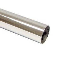 Труба стальная хромированная, система ДЖОКЕР, D=25 мм, L=3 м, толщина 0,7 мм / Труба стальна хромована Д=25 мм