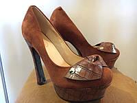 Туфлі жіночі з квіткою з 35 з 37 розмір
