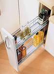 Карго для кухни, фасад 400 мм, 2 полки, хром, нижнее крепление / Карго для кухні, 2 полиці, нижнє кріплення
